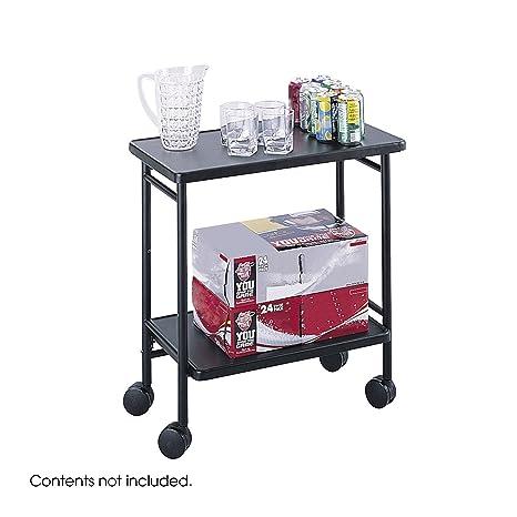 Safco - Carrito de oficina/carro para bebidas, plegable, color negro