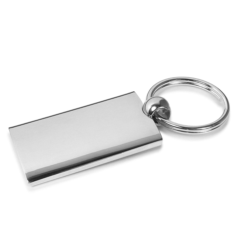 Dodge Nitro Red Spun Brushed Metal Key Chain INC Au-Tomotive Gold