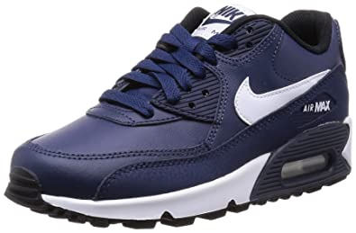 new styles 2aa52 e7c55 Nike Air Max 90 LTR (GS), Baskets Basses garçon, (Bleu Marine