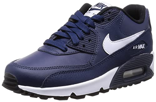 meet 2af6f 49db1 Nike Boys' Air Max 90 Leather (Gs) Low-Top Sneakers Blue Size: 5 UK ...