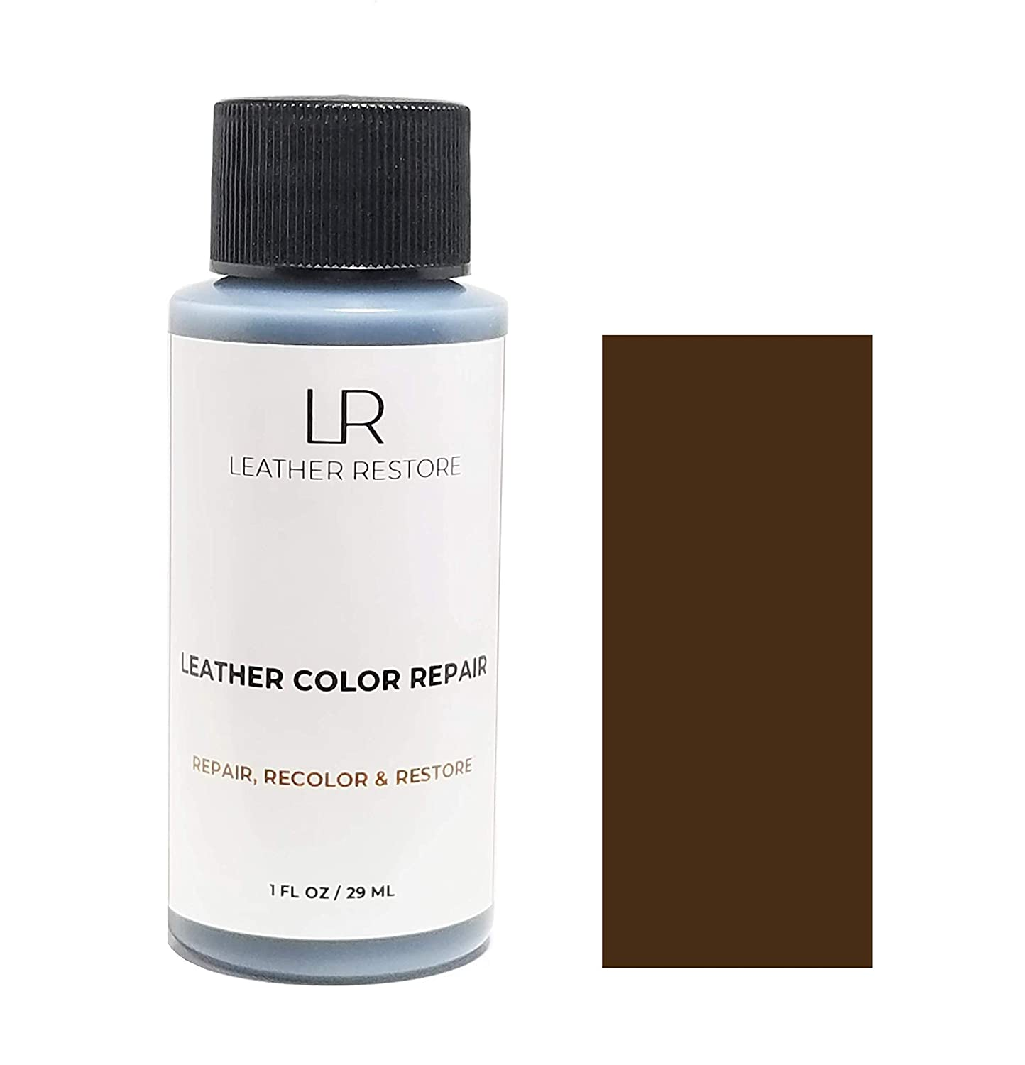 Leather Restore Leather Color Repair, Dark Brown 1 OZ - Repair, Recolor and Restore Couch, Furniture, Auto Interior, Car Seats, Vinyl and Shoes