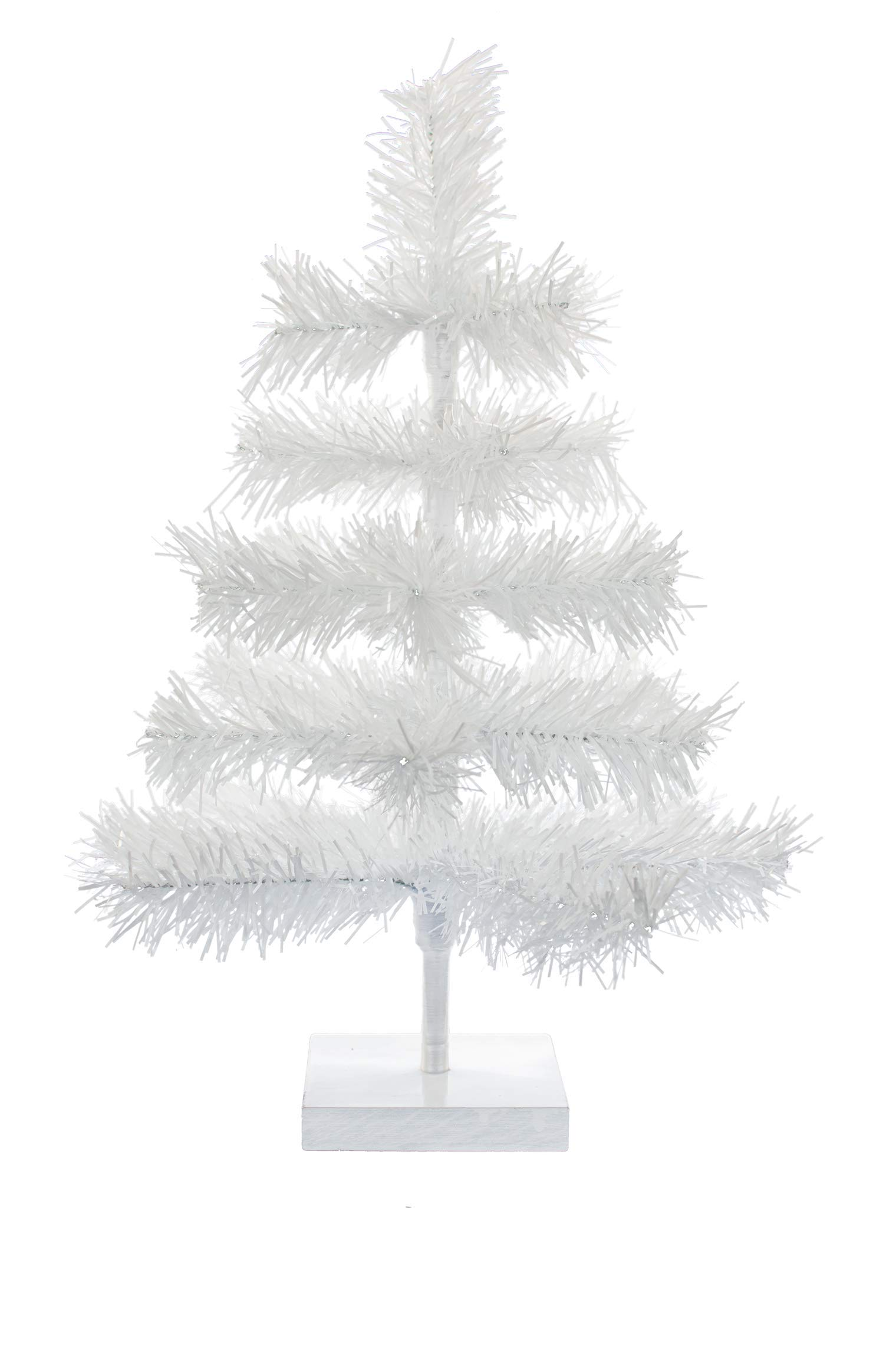 EST. LEE DISPLAY L D 1902 24'' Classic White Tinsel Feather Tree Tabletop Christmas Retail Tree