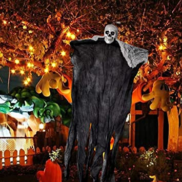 schwarz + wei/ß YSBER Halloween Deko H/ängender Geist 2 St/ück Scary Zombie Dekoration Indoor Outdoor f/ür Haunted House