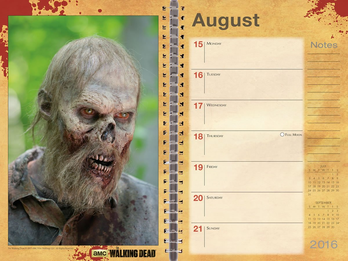 The Walking Dead Weekly Planner: Amazon.es: Inc. Sellers ...