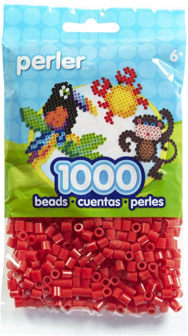 Canutillos Perler Beads Fuse Beads, 1000 Unidades, Rojo