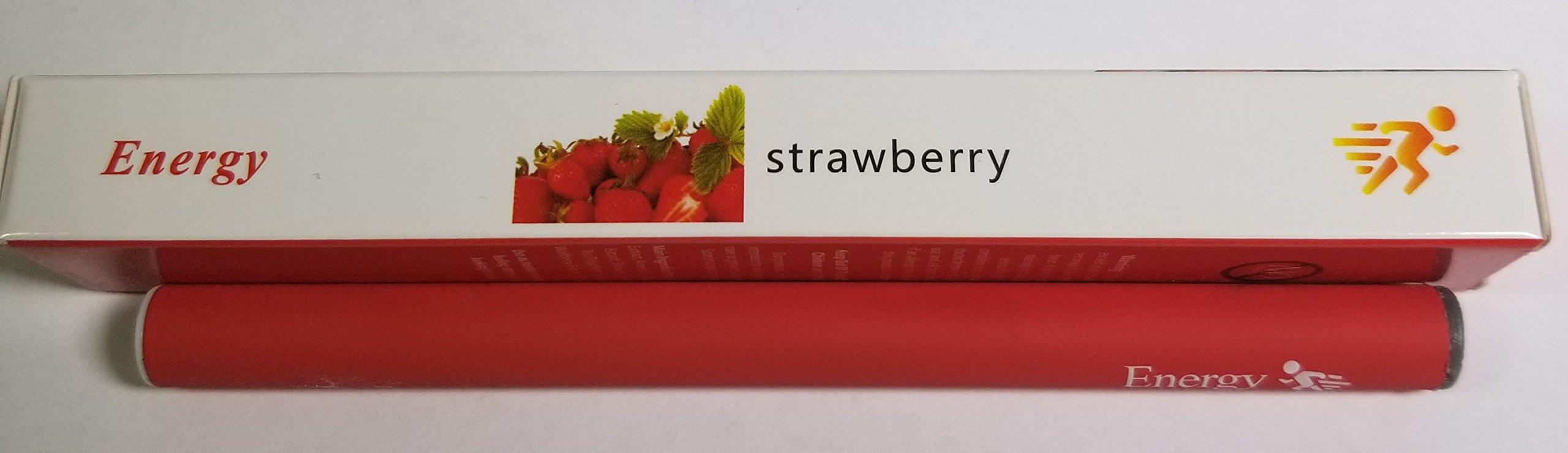 Natural Energy Inhaler ~ Fruity Vitamin Blend, caffeine, ginseng, licorice, tea polyphenol, wolfberry extract ~ Enhance Mood, Breathe Bliss ~ 500 puff *no nicotine! (Strawberry)