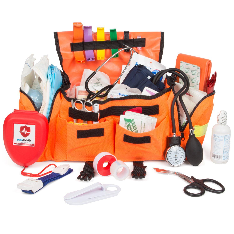 Eco Medix First Aid Kit Emergency Response Trauma Bag (Orange) by Eco Medix