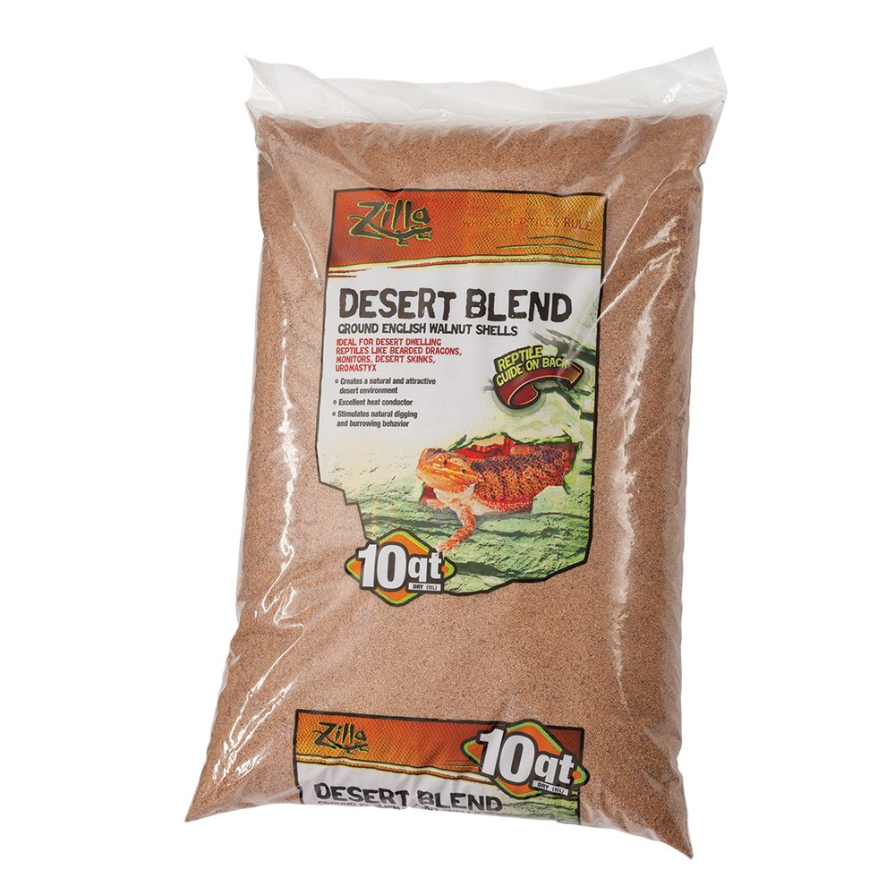 Zilla Reptile Terrarium Bedding Substrate Desert Blend Walnut, 10-Qt.