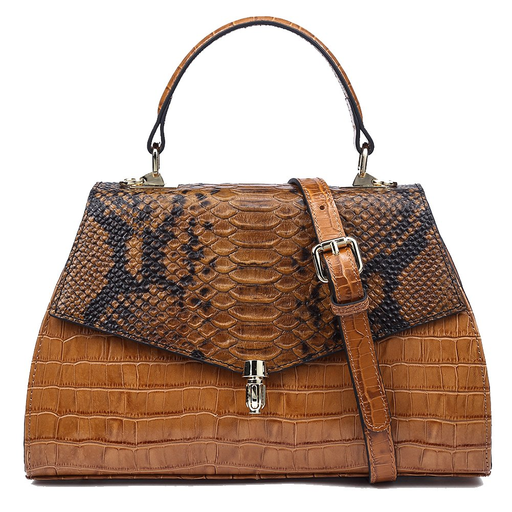 Genuine Leather Handbags for Women Crocodile Vintage Tophandle Bags Evening Satchels Clutches