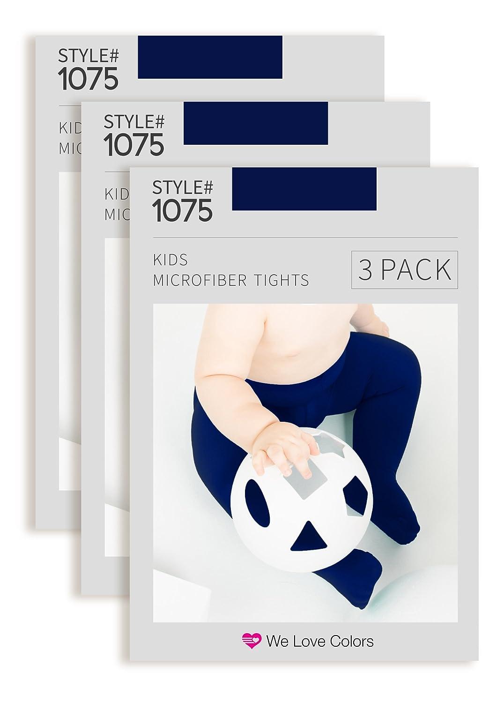 Kids Microfiber Tights Navy 3 Pack