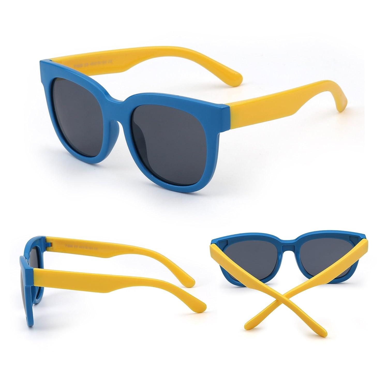 Kids Flexible Rubber Sunglasses Polarized Eyeglasses for Girls Boys Age 3 to 12