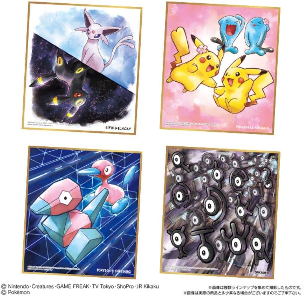 NEW BANDAI Pokemon Shikishi ART2 10 Pack BOX Candy Toy OFFICIAL IMPORT