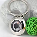 Maycom Creative práctico elegante termómetro llavero clave cadena anillo llavero llavero Titular de la clave 86039