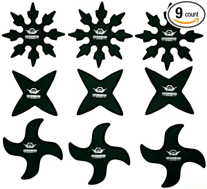 Armory Rubber Ninja Throwing Stars - 9 Pack