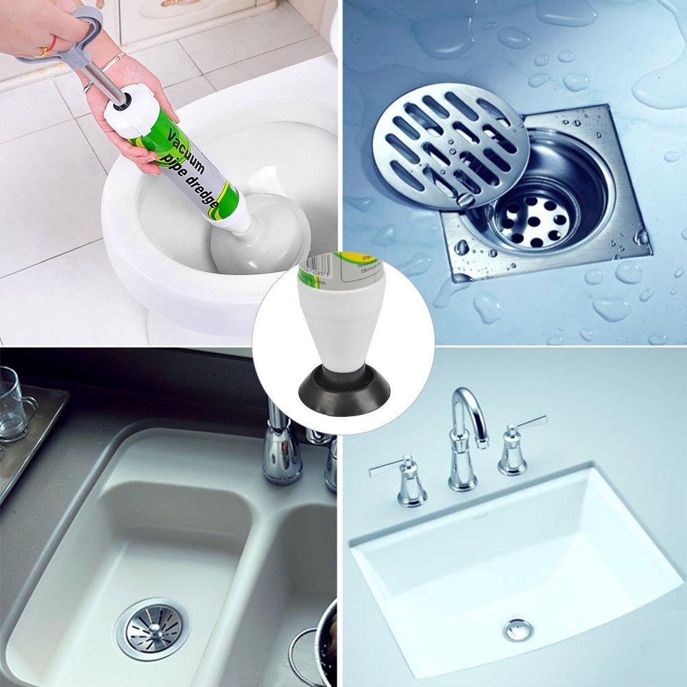 ABS desatascador de tuberias para Fregadero//Lavabo//Ba/ñera TIMESETL Toilet /émbolo con 2 Ventosa PVC
