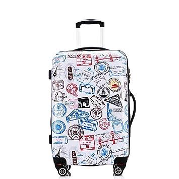 Fochier Estilista de moda ABS+ PC Hard Shell Travel Trolley Maleta Equipaje Ligero Casos 8 Ruedas