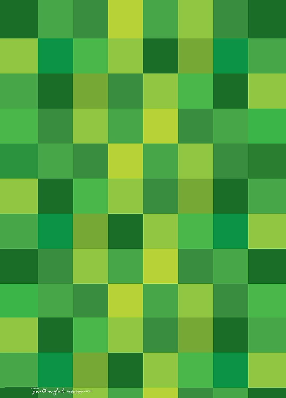 motivo: quadrati di pixel verdi Carta da regalo Jonathan Glick Designs 70 x 50 cm 2 fogli di carta regalo