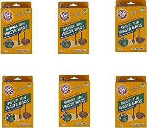 Arm & Hammer Swivel Bin Waste Bags, 20 Count,(6 Pack)