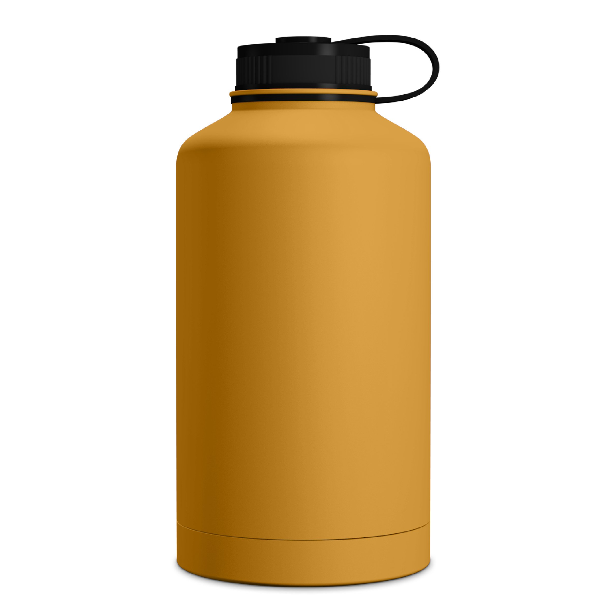 GEO 64oz Double Wall Vacuum Insulated Stainless Steel Leak Proof Sports Water Bottle, Wide Mouth w/BPA Free Screw Cap (Mango)