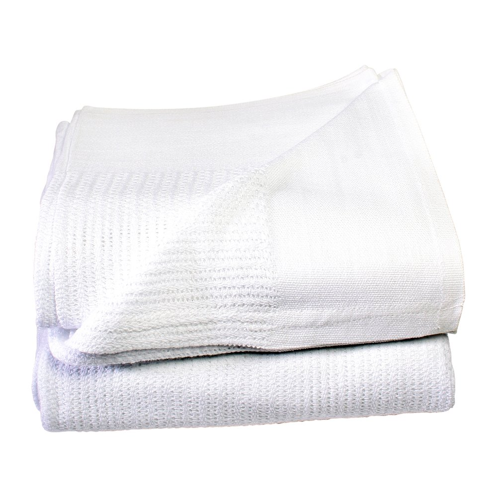 Sigmatex BK6696235 Healthcare Thermal Blanket, Open-Weave Cell, 100% Cotton, 66'' Width 96'' Length, 2.35 lb/ea., White, (20 ea)