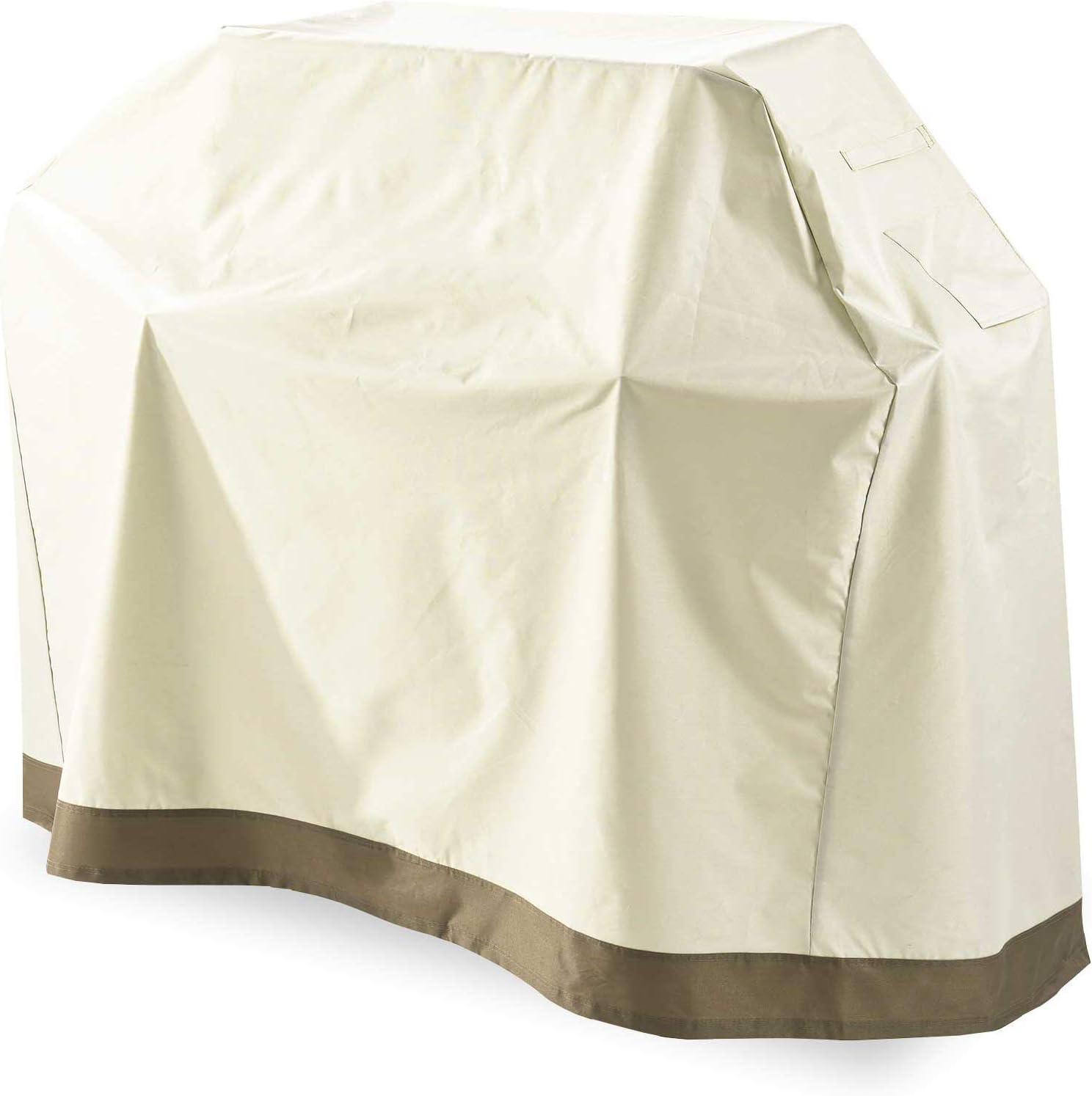 Lumaland Telo Copertura di Protezione per mobili da Giardino Impermeabile Copri Barbecue Griglia 125 H x 63 sp cm Oxford 600D Beige L x 152,4