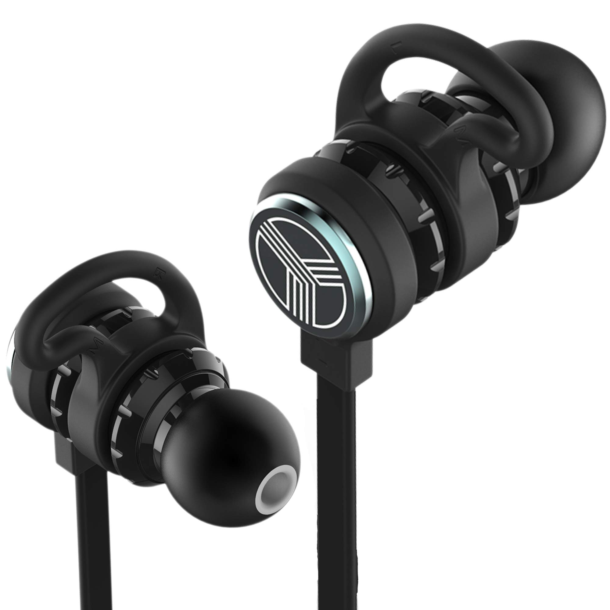 TREBLAB J1 - Elite Wireless Running Earphones - Hyper-HD aptX Stereo Sound Magnetiс Earbuds. IPX6 Waterproof, Microphone, Noise Cancelling Best Bluetooth Sport Headphones. Wireless Headphones for Gym by Treblab