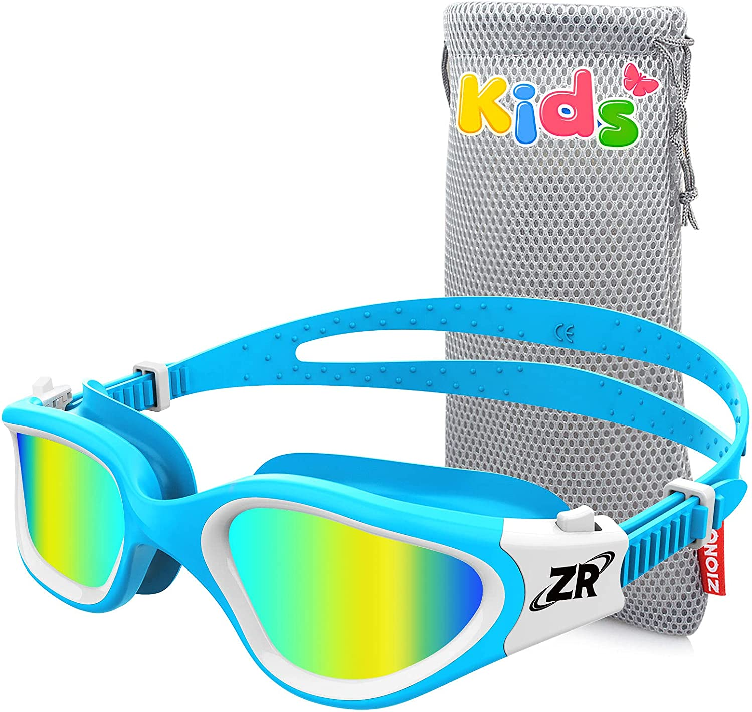ZIONOR Kids Swim Goggles, G1MINI Polarized Swimming Goggles Comfort for Age 6-14, UV Protection Anti-Fog Adjustable Strap Fit for Child Boys Girls (Gold Lens) : Sports & Outdoors