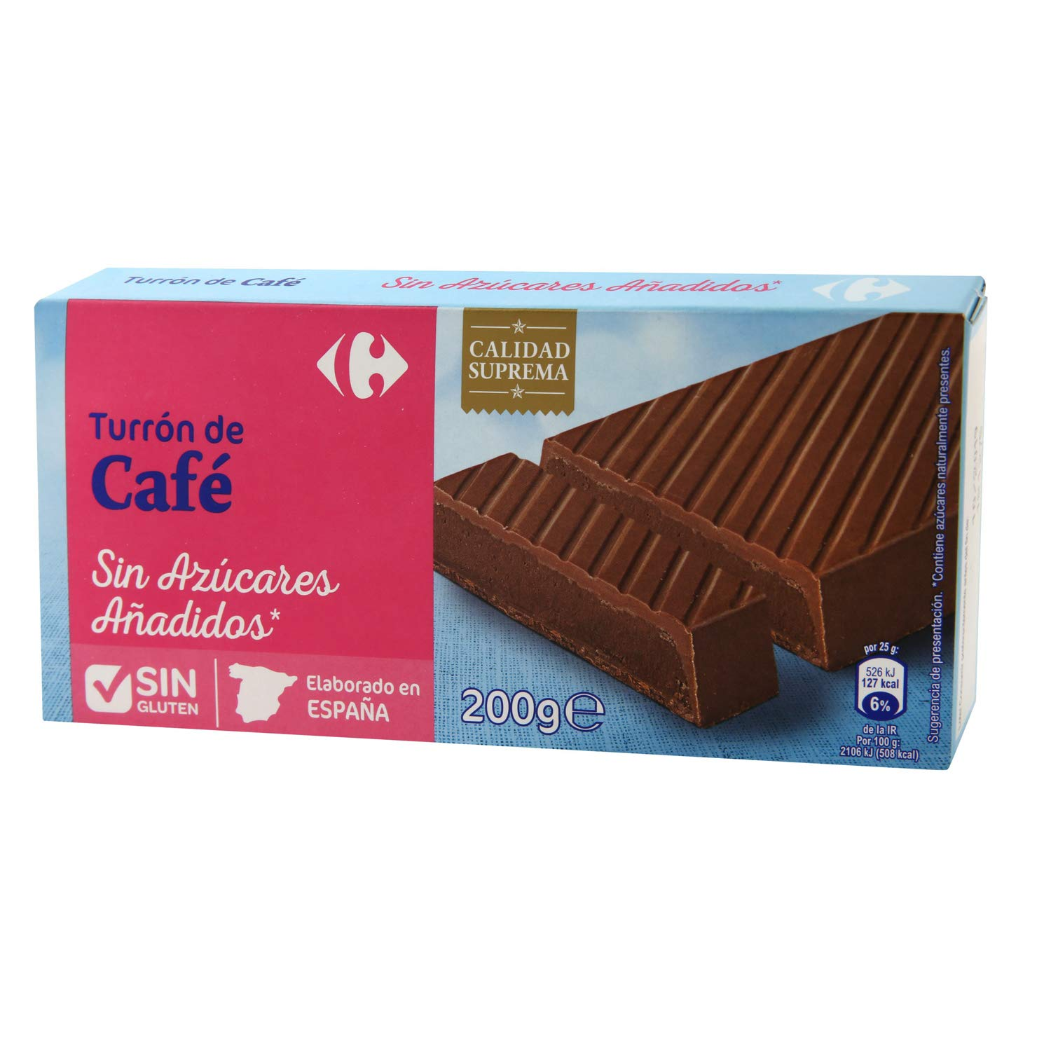 5 Pack Carrefour Sugar-Free Coffee Spanish Nougat 200g ...