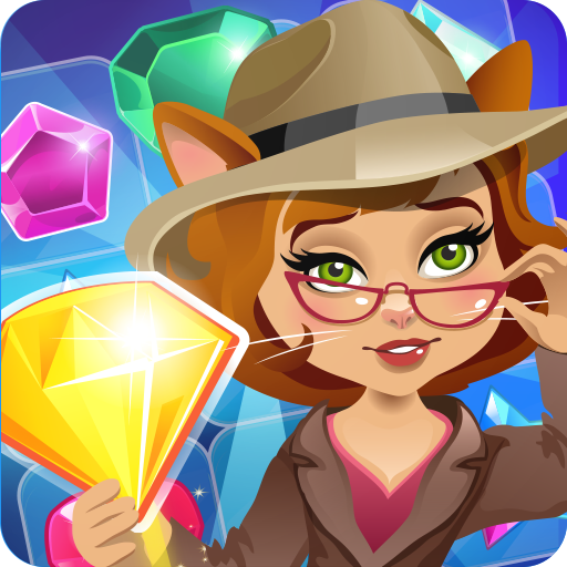 Classic Gemstones - Jewels Detective Match 3 Games For Kids Free 3 in a row gems matching mania Match your way in Gems Match 3, a Free jewel blast classic Match three Game where you tap tap
