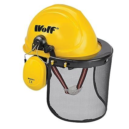 Wolf seguridad duro sombrero casco de combinación set con protección de oídos y cara visera EN352