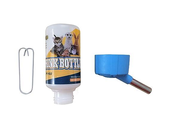 SatisPet Hamster - Botella de agua automática sin goteo, 115 ml, dispensador de agua para animales pequeños sin fugas, a prueba de fugas, alimentador de ...