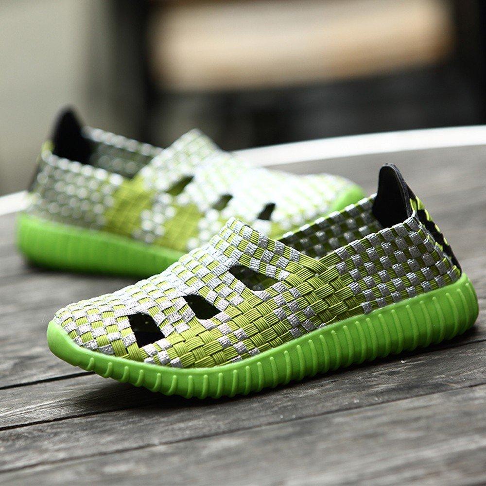 Clearance Sale Shoes For Women ,Farjing Fashion Women Flats Shoes Woven Shoes Casual Running Shoes Non Slip Shoes (US:6.5,Green) by Farjing (Image #4)
