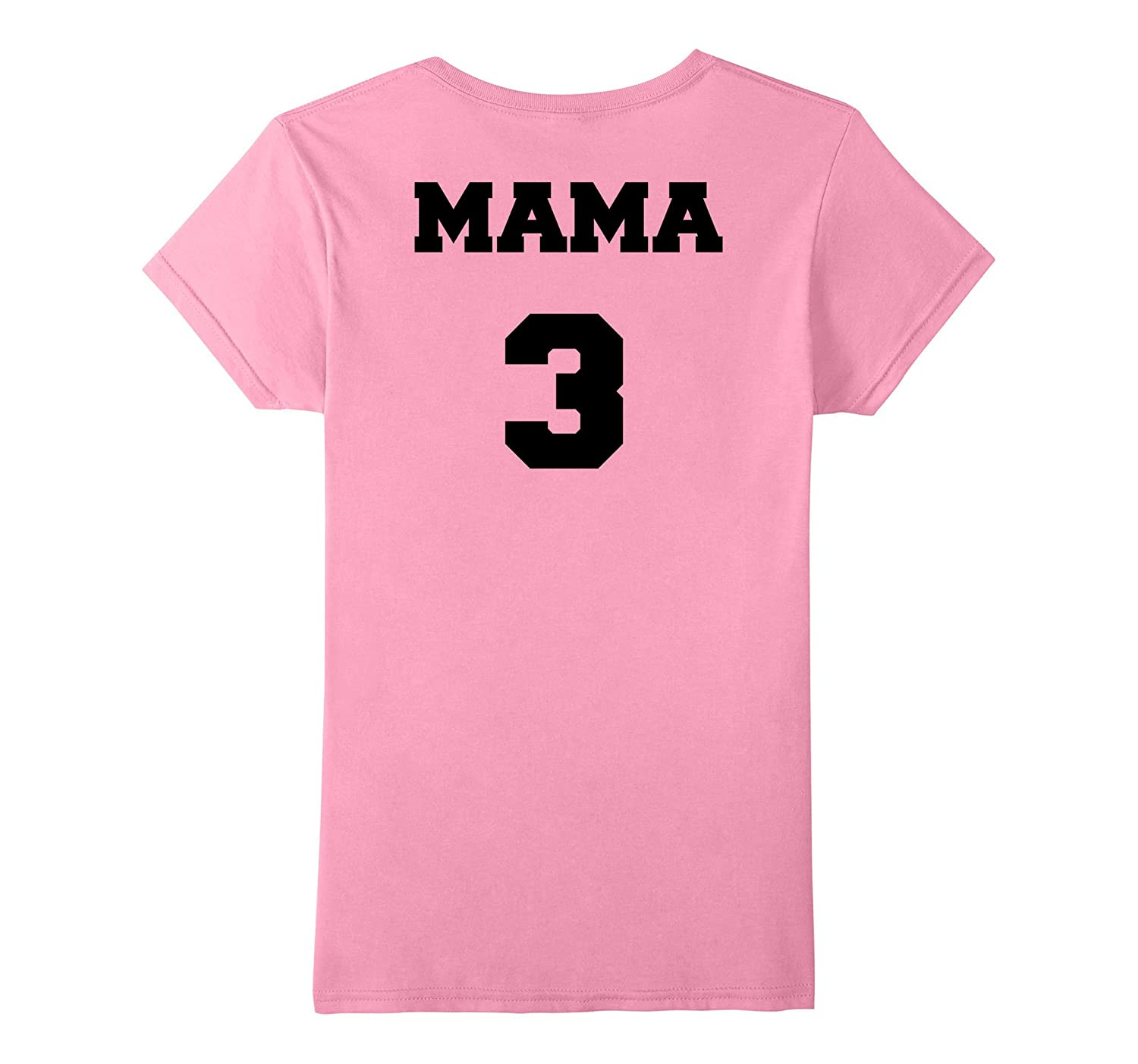 Womens MAMA matching Papa and Son T-shirt in football jersey style-FL