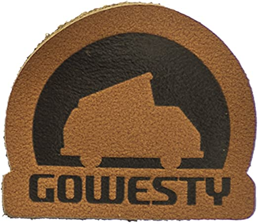amazon com gowesty vanagon logo patch leather clothing gowesty vanagon logo patch