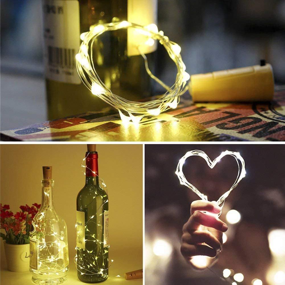 DIY LED Botella de Luz (9 Paquetes) con Destornillador, Luces de Botella de Vino 2M / 20 LED Luces de Cable de Cobre para Decoraciones de Fiesta de ...