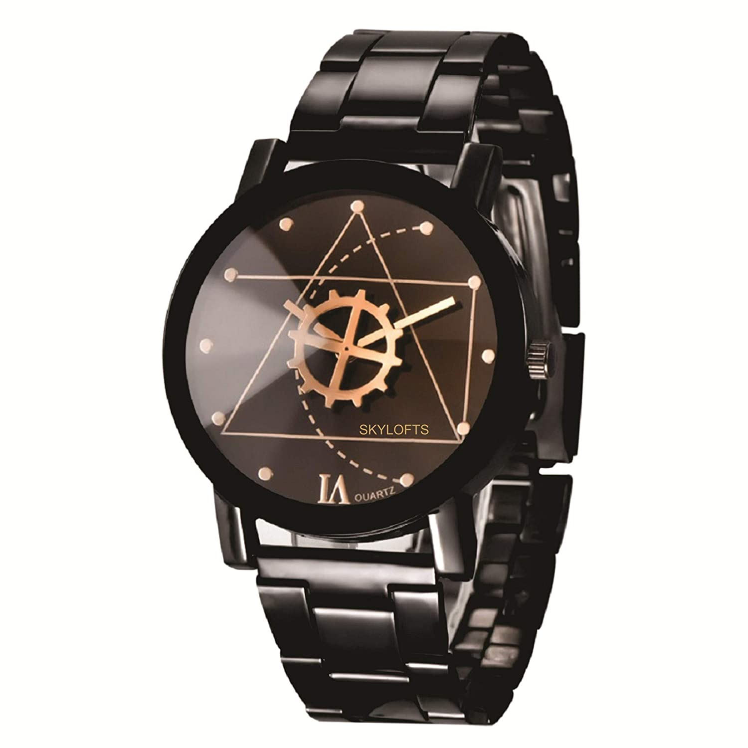 db022f0094 Buy Skyloft Analog Black Dial Stainless Steel Men Watches   Boys Watch  Online at Low Prices in India - Amazon.in