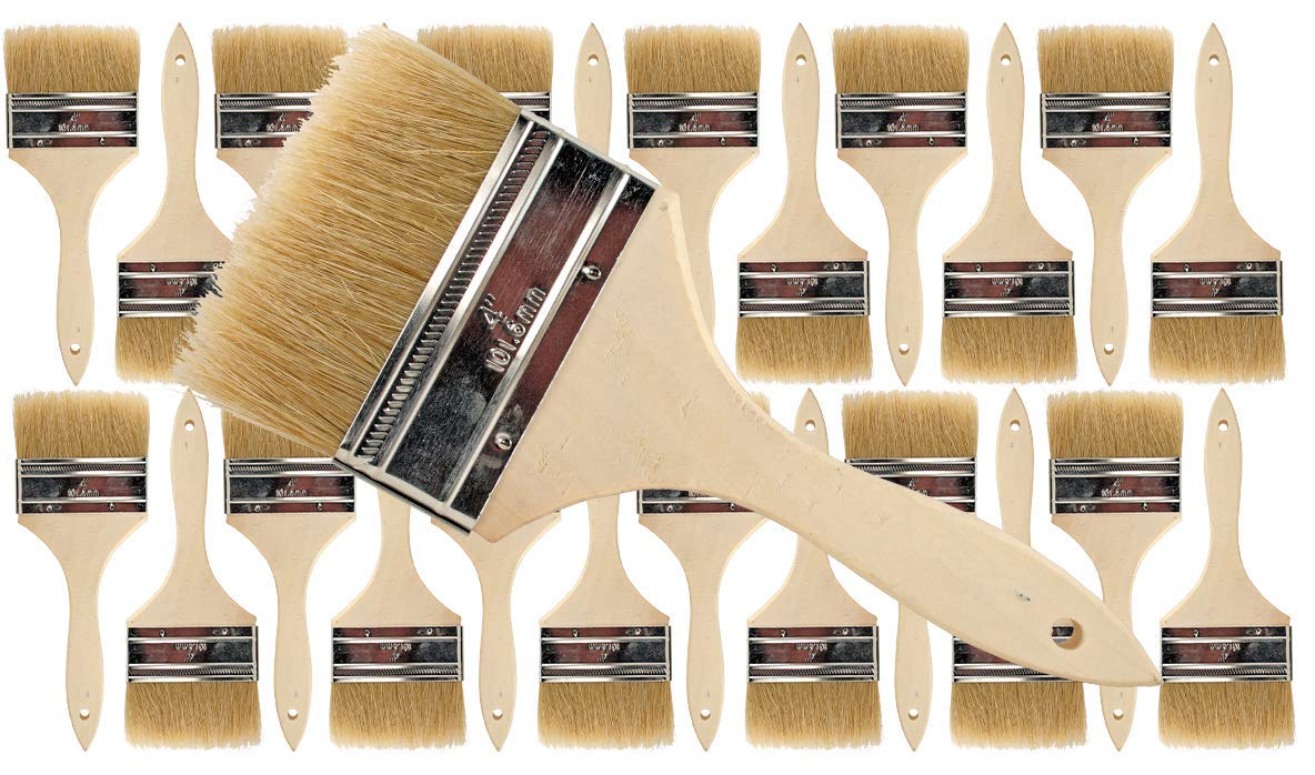 Pro Grade - Chip Paint Brushes - 24 Ea 4 Inch Chip Paint Brush by Pro Grade
