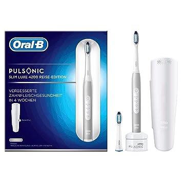 ORAL-B Pulsonic Slim Luxe 4200 de viaje cepillo de dientes eléctrico Edition, 1er