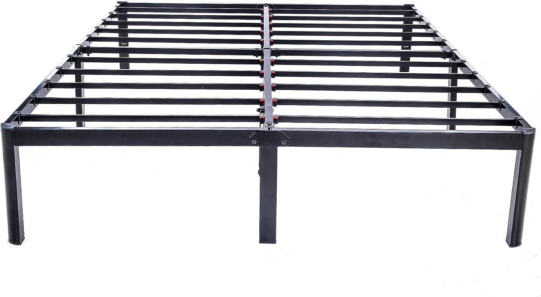 V LX 14 inch Tall Heavy-Duty Steel Slats 1.0T Steel Frame V1401 Bed Frame King