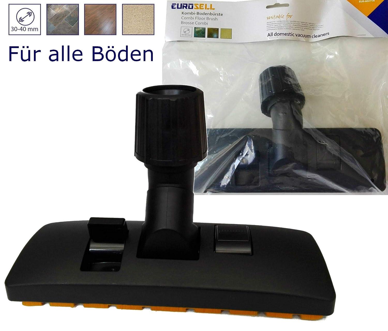 Boquilla profesional combinada de aspiradora alfombra Bodend/üse 30-40 mm con adaptador para suelo textil y parqu/é