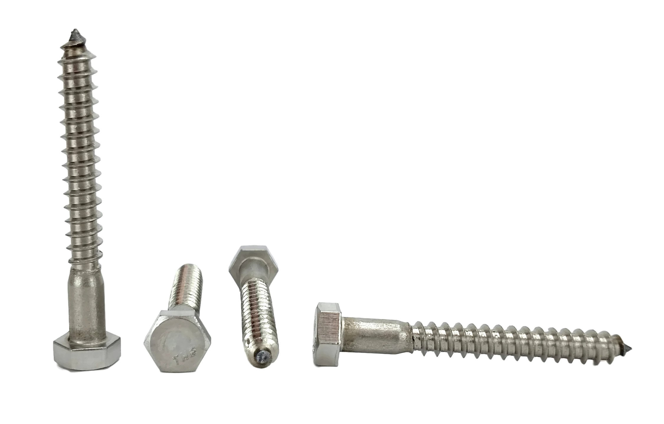 Stainless 5/16 x 2-1/2'' Hex Lag Screw (1'' To 5'' Lengths Available in Listing), 18-8 Stainless Steel, 25 pieces (5/16 x 2-1/2'')