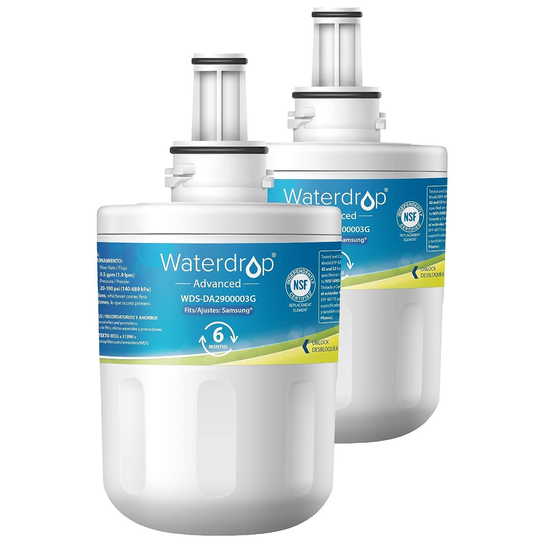 Waterdrop NSF 53&42 Certified DA29-00003G Refrigerator Water Filter,  Compatible with Samsung DA29-00003G, Aqua-Pure Plus DA29-00003B, HAFCU1,