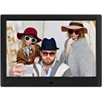 NIX Advance Digitaler Bilderrahmen 10 Zoll X10H. IPS Display. Elektronischer Fotorahmen mit Uhr/Kalender-Funktion. Auto On/Off (Hu-Motion Sensor). Inkl. 8GB USB-Stick und Fernbedienung