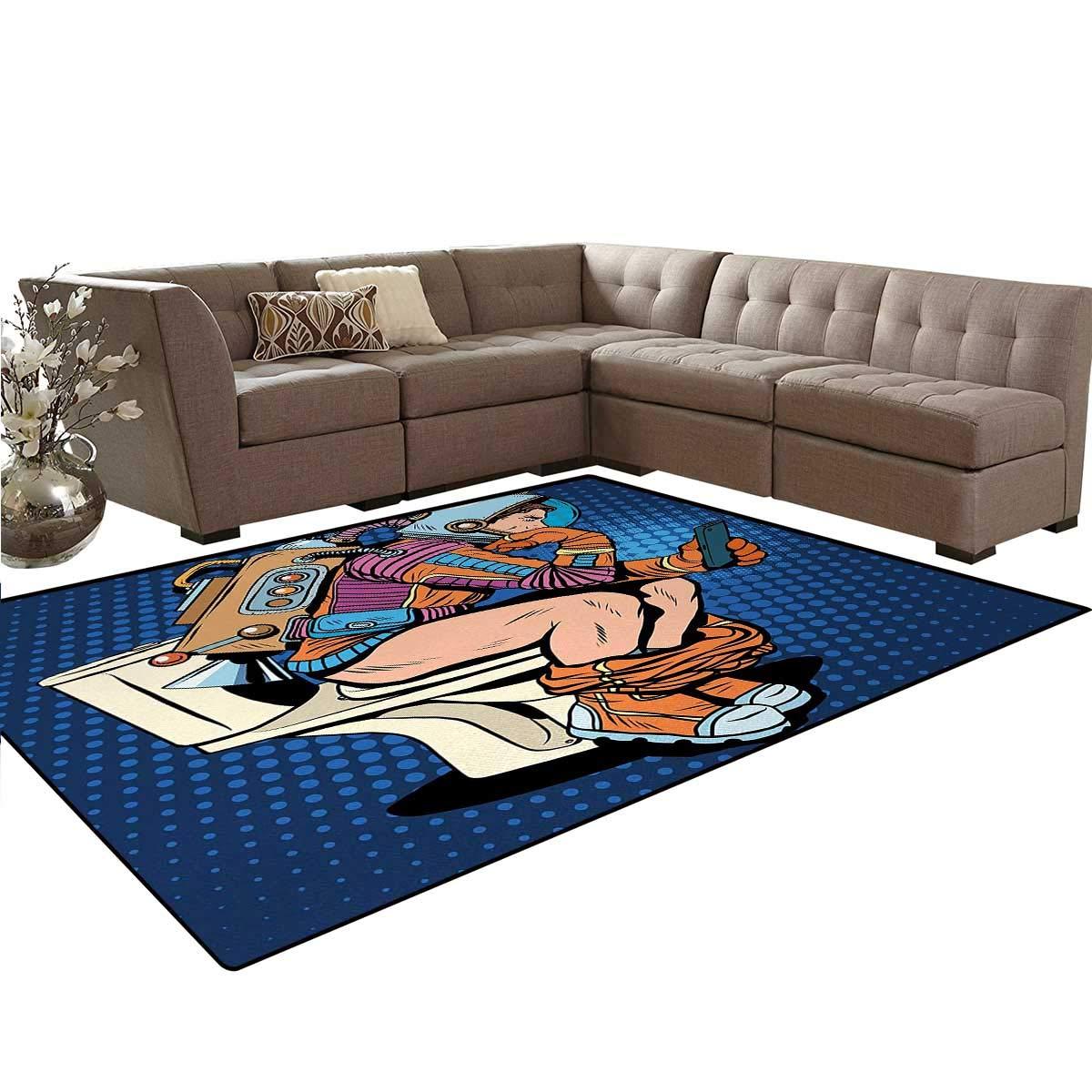 Amazon.com: Astronaut, Carpet, Futuristic Thinking Man with ...