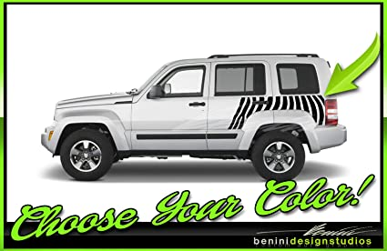 Amazon com: 2008 and up Jeep Liberty Vinyl Zebra Stripes