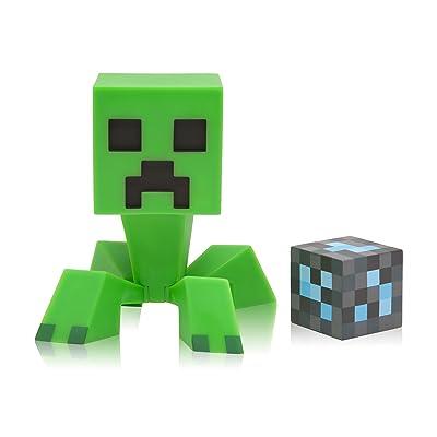 JINX Minecraft Creeper 6-Inch Vinyl Action Figure with Diamond Ore Block: Toys & Games