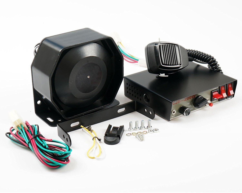 Set de universal 200/W 12/V compacto altavoz sistema de PA cuerno sirena de alerta de emergencia