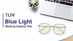 TIJN Pilot Irregular Eyeglasses Non-prescription with Blue Light Blocking Lens