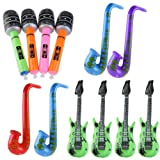 OULII 12pccs Inflatable Guitar Saxophone Inflatable Toys (Random Color)