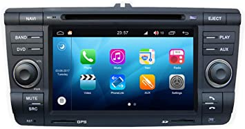 Roverone Android System 7 Zoll Doppel Din Autoradio Gps Für Skoda Yeti Octavia Laura Mit Navigation Radio Stereo Dvd Bluetooth Sd Usb Touch Bildschirm Navigation